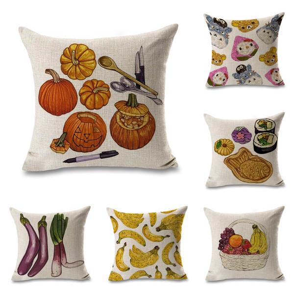 Retro Design  Cushion Cover Pillow Case Vegetables  Home Decor