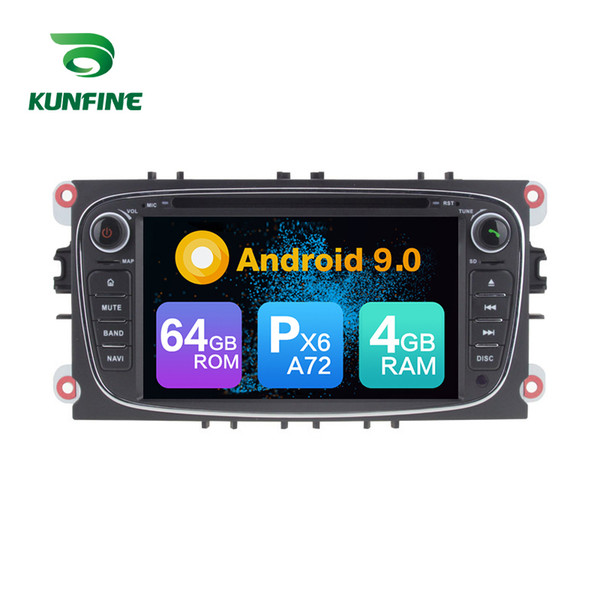Android 9.0 Core PX6 A72 Ram 4G Rom 64G Car DVD GPS Multimedia Player Car Stereo For FORD Mondeo/Focus/S Max/Galaxy/C Max Radio Headunit