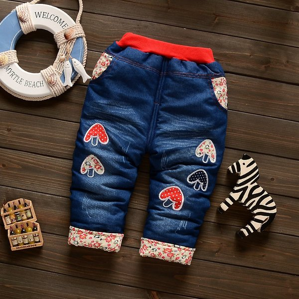 good quality baby girls pants winter warm thick cartoon trousers for infant clothing toddle boys denim cotton leggings bebe outfits