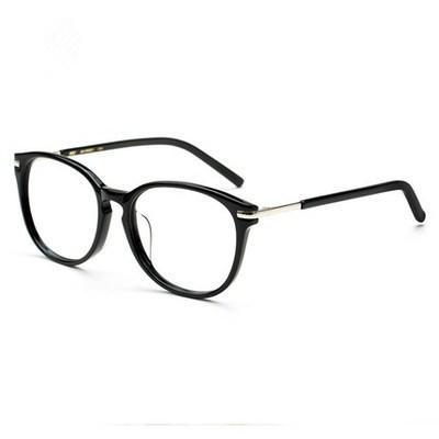 Luxury-Star models retro myopia glasses frame female models large frame plate plain glasses men and women black box full frame W5175