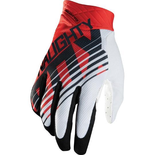 MX MTB Мотокросс Перчатки с Полными Пальцами NAUGHTY FOX Авиаперчатки Перчатки ATV DH Горная Грязь Велосипедная Велоспорт Перчатки черный / красный