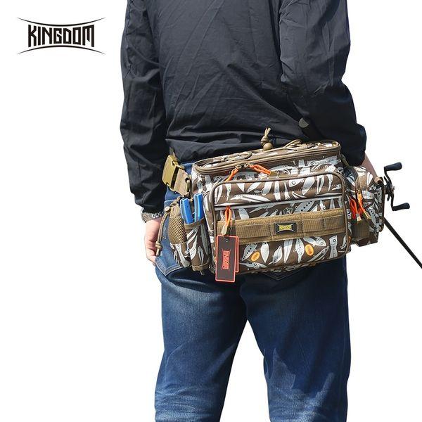 Kingdom Fishing Bags lure bag 1000D Waterproof Nylon Large Capacity Multifunctional 863g 31x18x16cm fishing case Model LYB-13 #28534