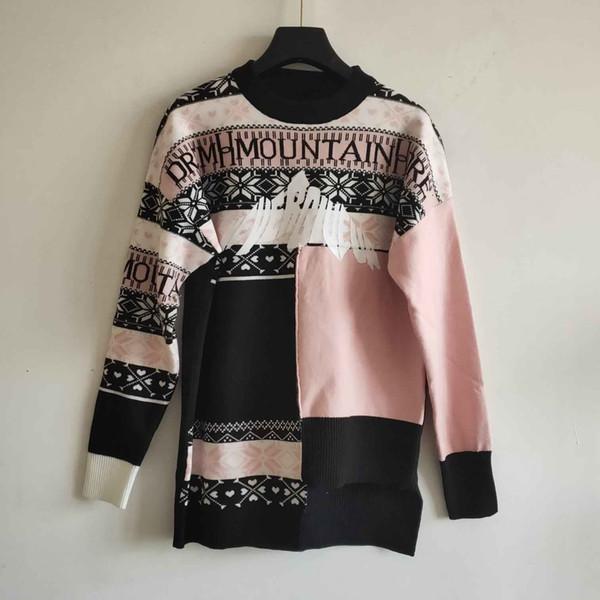 Womens Designer-Mantel-Druck-Mode-Trend Pullover Damen Freizeit-Qualitäts-dünne Hip-Hop-Stil Pullover 2020 Marken Pullover Größe S-L