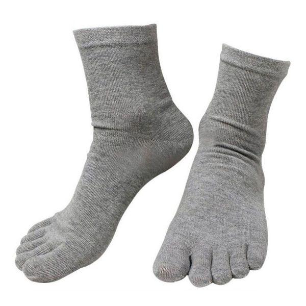 Vendita calda 10 paia / lotto moda primavera inverno stile meias uomo donna calzini cinque dita cotone poliestere dito calzino 6 colori