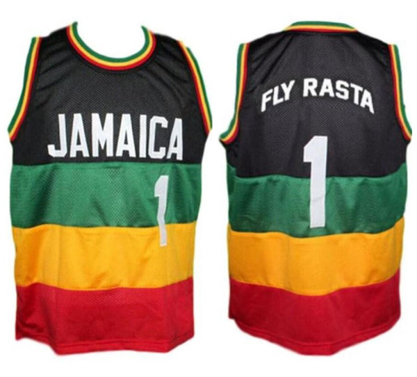 wholesale dealer ec2c8 c73cd 2019 Fly Rasta #1 Team Jamaica Retro Basketball Jersey Mens Stitched Custom  Any Number Name Jerseys From Yufan5, $23.35 | DHgate.Com
