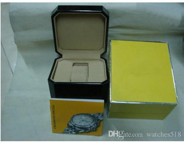 Haute qualité luxe Mans poignet Boîtes Swiss Top Marque boîte de papier pour montre Breitling carte Livret en anglais pour les hommes Vente