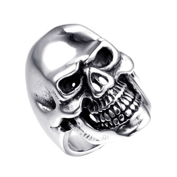 Stainless Steel Rings Men Fashion Luxury Band Hip Pop Party Cool Charm Skull Rings Desinger Jewellery High Qulality