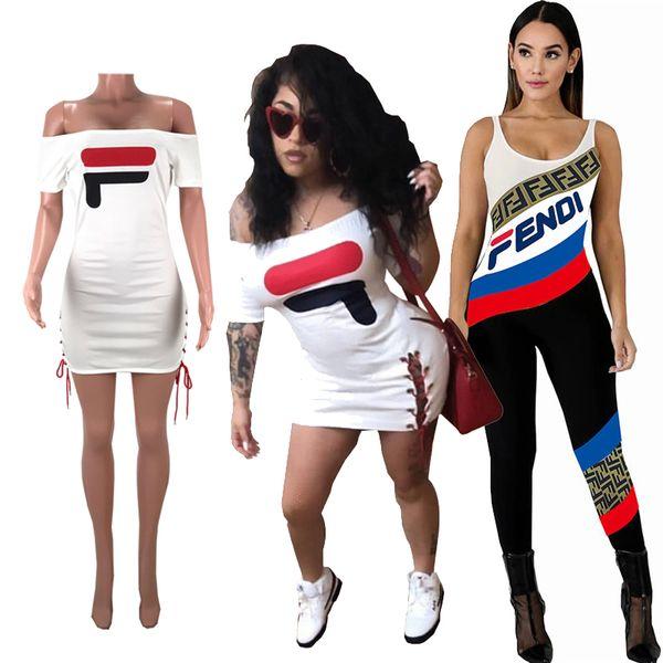 Champions femmes deux pièces tenues ensembles Polo Tshirts Débardeurs Shorts Survêtement F F été Stripe Combinaisons Robes Moulantes S-XL A41104
