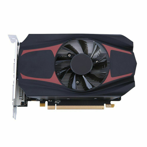 WISENOVO HD7670 Graphics Card 600//1800MHz 4G//128bit Game Video Graphics Card VGA DVI HDMI with Cooling Fan 480 Stream Processor