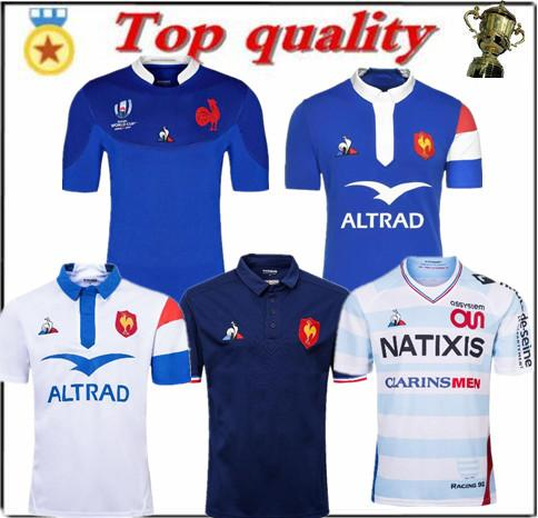top popular Top 19 20 France World Cup Rugby Jerseys 19 20 France Rugby Shirts Maillot de Foot French BOLN Rugby shirt size S-3XL 2019