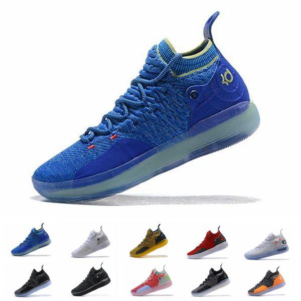 Дешевые kd 11 EP элитная обувь KD 11s мужчины разноцветный персиковый джем мужские Doernbecher тренеры Кевин Дюрант 10 EYBL All-Star BHM кроссовки