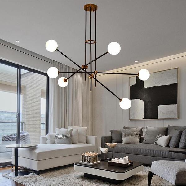 Modern Pendant Lamp LED Lighting Pendant Lamp Art Decor Gold Metal Hanglamp for Living Room Dinning Room luminaire Light Fixtures