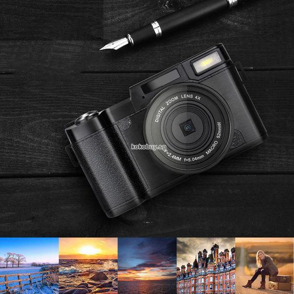 Conjunto de cámara digital Multifunción digital Cámara Flip Pantalla Autodisparador SLRnew