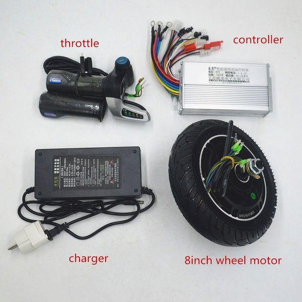 Kit vélo électrique 36V 48V 350W Hub Controller Motor Kit d'accélérateur pour Scooter électrique Vélo électrique DIY Set Scooter