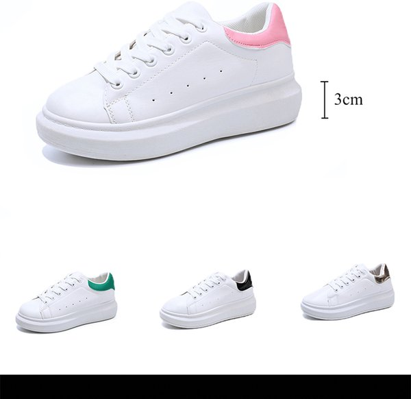 Designer donne sneakers piattaforma dei pattini di cuoio poco costoso Miglior Top White modo di qualità piani casuali scarpe da sposa senza il Box
