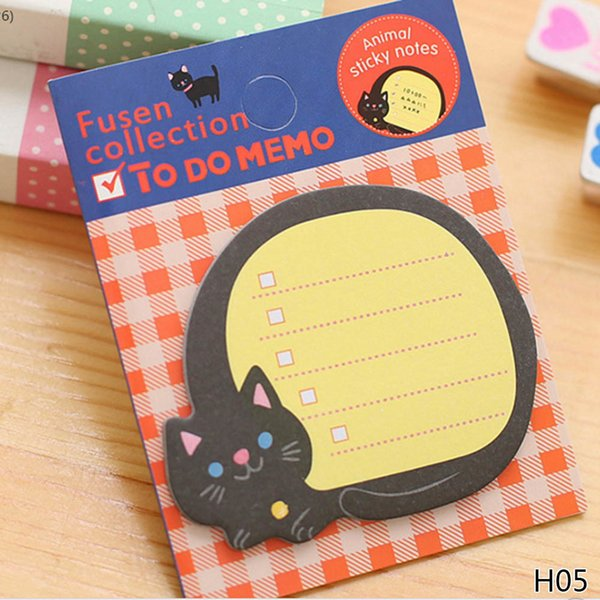 1/Piece!!! Notepad Kawaii Stationery Papeleria School Supplies Cartoon Animals Paper Sticky Notes 2018 New Cat