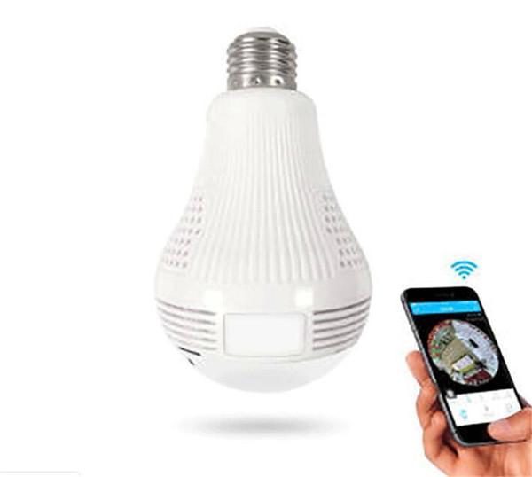 Wireless IP Camera Bulb Light FishEye 360 Degree 3D VR Mini Panoramic Home CCTV Security Bulb Camera IP