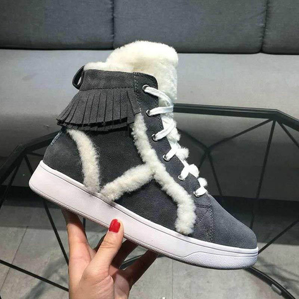 American luxury women s boots nubuck leather boots real hair design ladies warm shoes calfskin sandals with original box original logo-8
