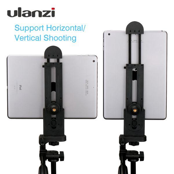 """Live-Stative Ulanzi für iPad Professionelle Tablette-Stativ-Halterung 5-12 '' Universal-Standklemme Verstellbare Vertikalhalterhalter-Adapter 1/4 \ """""""