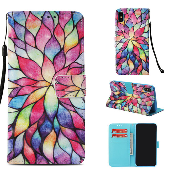 FBA Products Flower animal pu leather mobile cover Cell phone case for iphone xs max XR X cases