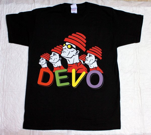 DEVO BAND Rock Band S-XXL NUEVO BLACK T-SHIRTFunny envío gratis Unisex Casual top