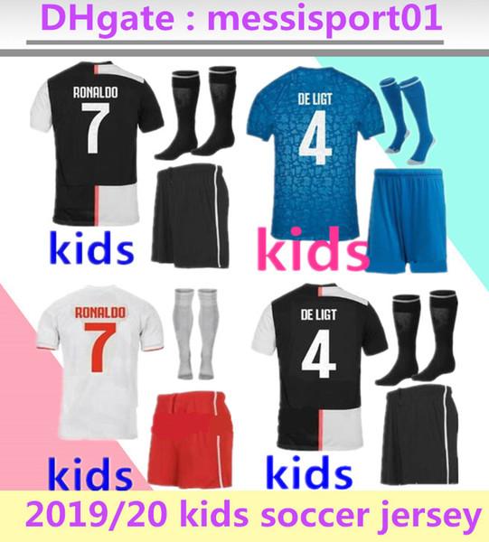 2019 2020 maglia Juventus kids jersey da calcio per bambini kit 19 20 Ronaldo DYBALA MARCHISIO MANDZUKIC juventus calcio maglie per bambini calcio 2019/20kit