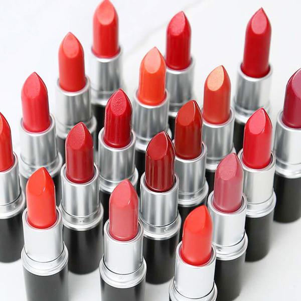 top popular Matte Lipstick Lip Gloss 25 colors Makeup Luster Retro Lipsticks Frost Sexy MatteLipsticks 3g 25 colors lipsticks with English Name in stock 2020
