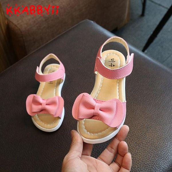 Summer Fashion Kids Children Sandals Bowknot Shoes Girls Pricness Flat Shoes UK
