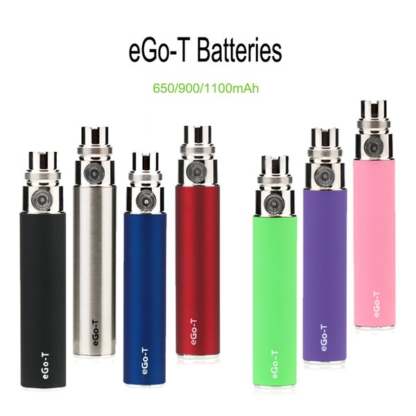 eGo-T Battery E Cigarette 650mAh 900mAh 1100mAh Vape Pen Preheat Battery For 510 Thread Battery Thick Oil Vaporizer Atomizer With 7 Colors