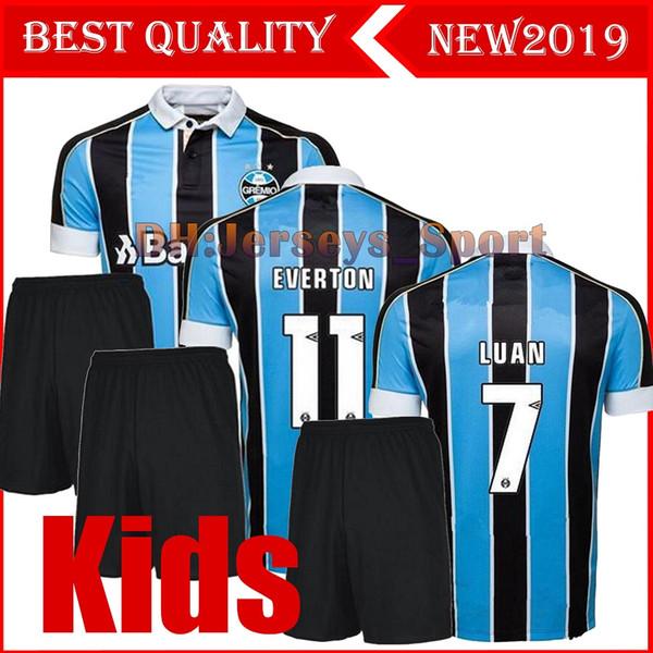 Çocuklar Kiti 2019 2020 Gremio Paulista Futbol Forması brezilya erkek takım elbise 19 20 Futbol gömlek Brasil çocuk takım elbise # 11 EVERTON LUAN MARINHO PEPE