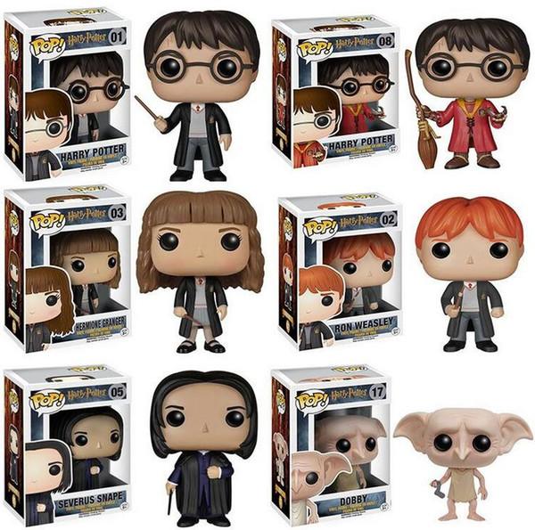 Funko Pop Harry Potter Action Figures Giocattoli per bambole 7 Disegni 9cm Giocattolo per bambini Decorazione regalo con scatola originale