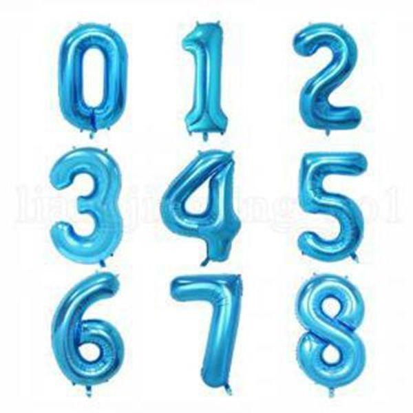 Numero blu casuale