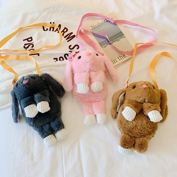 El nuevo diseñador de los animales de peluche bolsas de equipaje invierno juguete de peluche bolso crossbody bagflap Shell bolso bolsos juguete del niño forme el pequeño bolso del mensajero de los bolsos