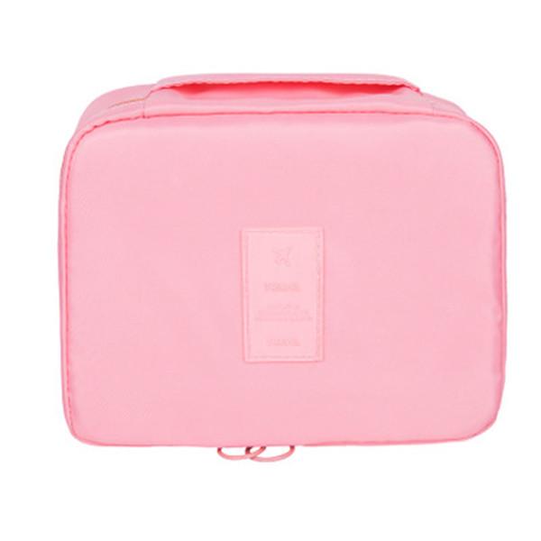Duopindun Travel Makeup Cosmetic Wash Organizer Storage Bag Multi Color Box Shape Oxford Material High Quality