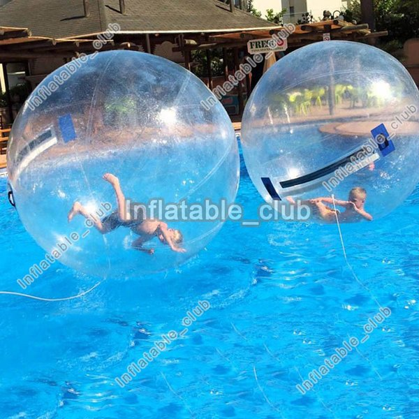 Free shipping inflatable water ball for sale 2m dia water walking ball for pool 0.8mm pvc water roller ball
