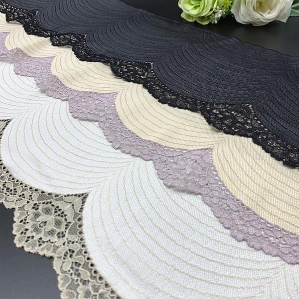 best selling 3y lot Width 17.50-20cm 3 Colors Elastic Stretch Lace trim Champagne Skirt Hem Underwear Sewing Craft DIY Apparel Fabrics Lace