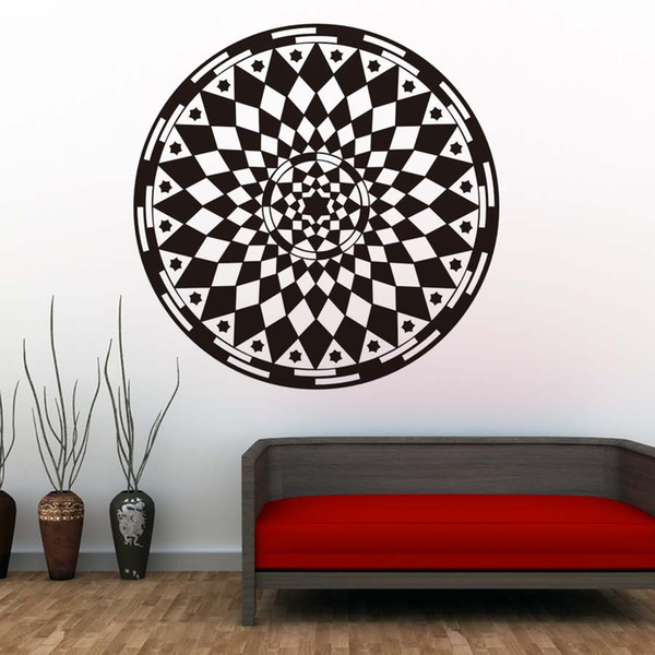 1 Pcs Mandalas Flower Wall Stickers Yoga Pattern Art Design PVC Sticker DIY Wall Decals For Bedroom Home Decor