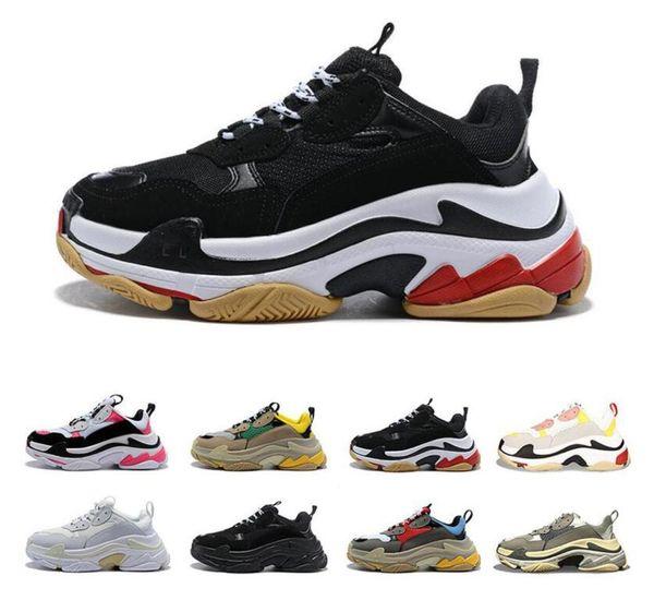 Новый leatheUnveils leisugeodesignS женские кроссовки Triple S повседневная папа обувь для мужчин Женщины бежевый черный Ceahp спортивный дизайнер размер обуви 36-45
