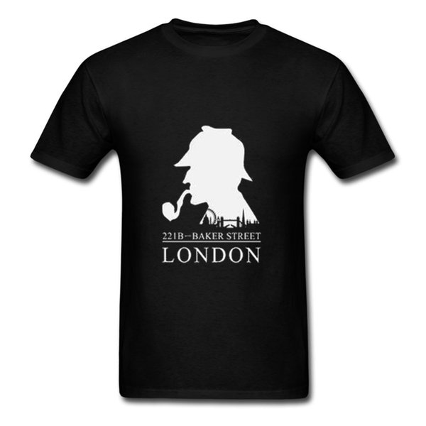 Nueva Sherlock Holmes Camiseta Hombre Moda Algodón Camiseta Gran Bretaña Londres Moda Camiseta Para Hombres Mujeres Casual Para Hombre Camiseta Tops