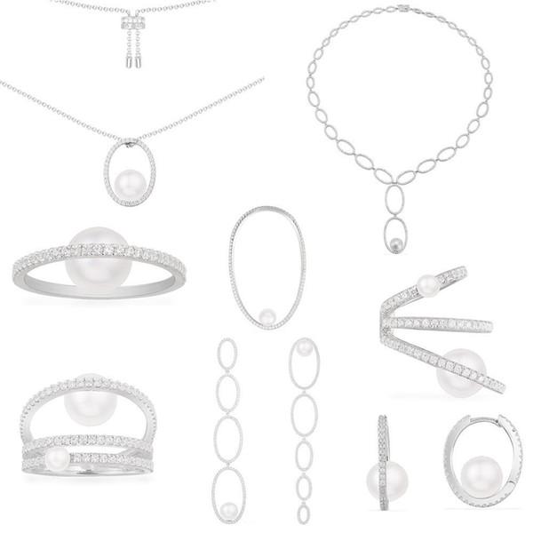 Moda copia Argento 925 copia 1: 1, pavé pavé perla gioielli Monaco per i gioielli di lusso delle donne regalo di Capodanno Natale