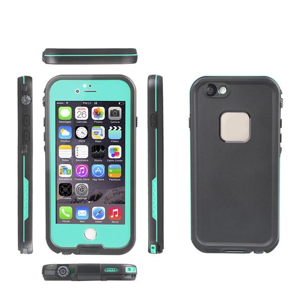 Cobertura à prova de choque de grau militar de corpo inteiro para iphone6s iphone6s5.5 tampa do caso impermeável fre protetor de tela embutido
