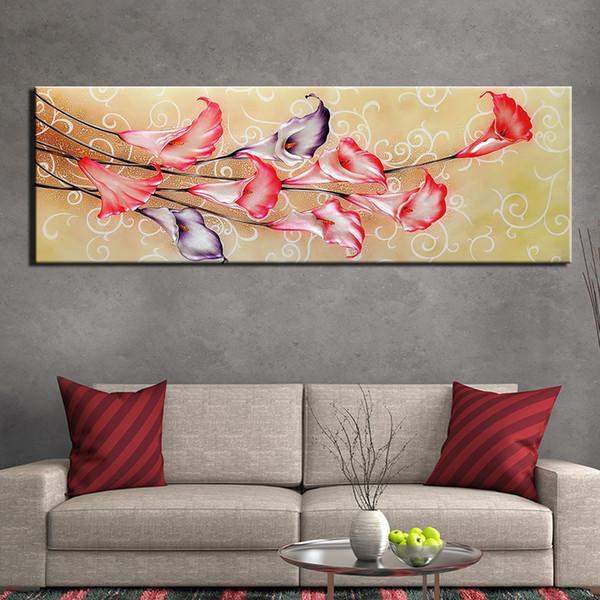 Pinturas Poster arte impressa lona Poster Abstract calla flor de lírio Imagem Home Decor Wall Art Foto de Kid presente No Frame