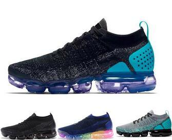 2.0 New Cushion Running Shoes Men Women Outdoor shoe Trainer Black White Sport Shock Jogging Hiking Sports Athletic Sneakers