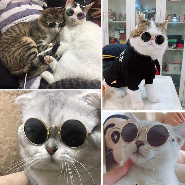 Moda Pet Cat Occhiali da sole Mini Pet Dog Cat Occhiali Personalità Hip Hop Cat Forniture Moda occhiali da sole per cani