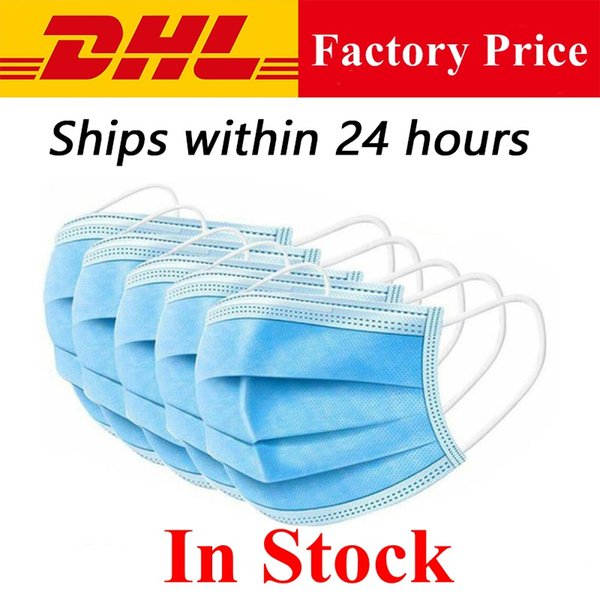 24 hours shipping disposable face masks 3 ply breathable mouth cover anti dust air pollution protection ear-loop dust mouth masks dhl