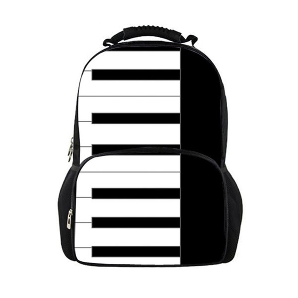 Customized School Backpack for Girls Piano Keyboard Pattern Junior Students School Bags for Teenager Students Satchel Schoolbag