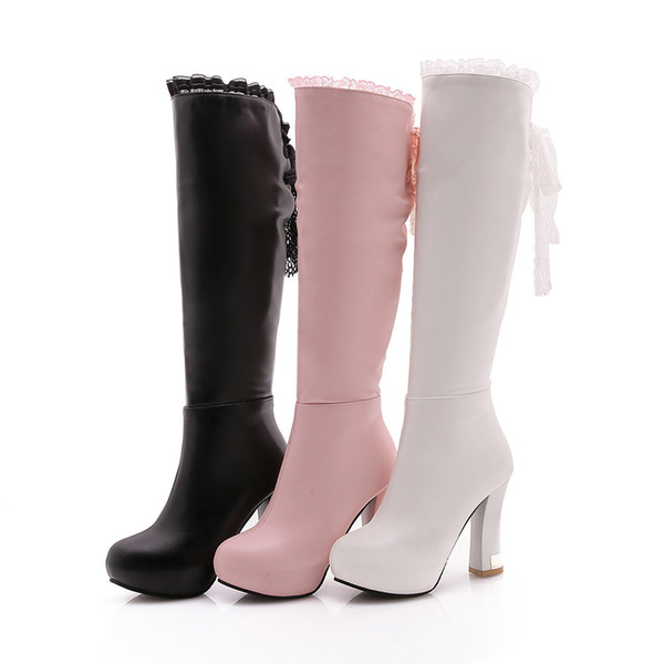 Sexy2019 Grace Lace Bring Candy England Canister Knight Thick High With Boots Generation Hair X242