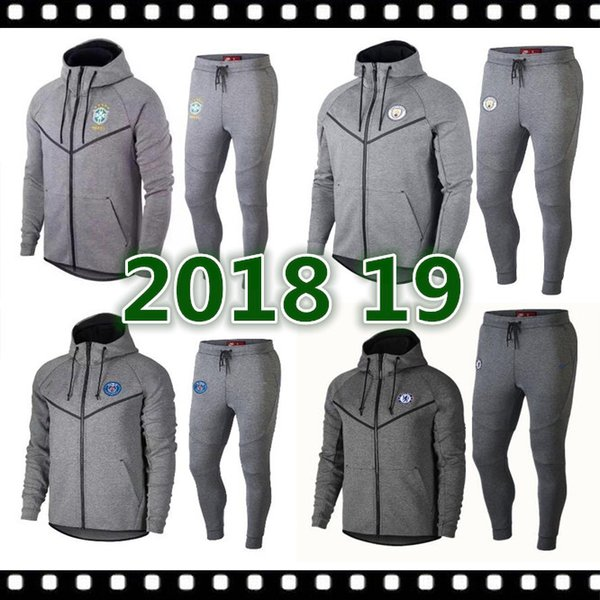 Newest 2019 2020 ADULT hoodie brazil MBAPPE LUKAKU jacket MATUIDI HIGUAIN DYBALA SON football jacket Long zipper soccer tracksuit