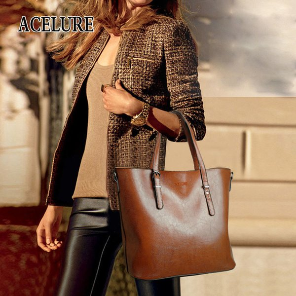 good qualityWomen Shoulder Bag Fashion Women Handbags Oil Wax Leather Large Capacity Tote Bag Casual Pu Leather Women Messenger Bag