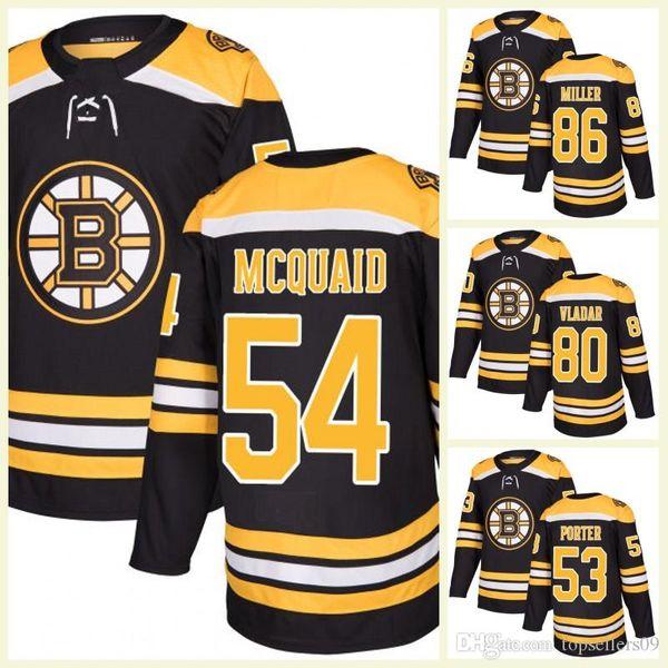 2017 New AD Mens Boston Bruins 80 Daniel Vladar 54 Adam McQuaid 86 Kevan Miller 53 Chris Porter Ice Hockey Jerseys White Black